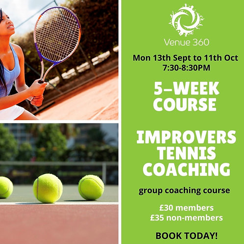 Improvers Adult 5 Week Tennis Course - non-members