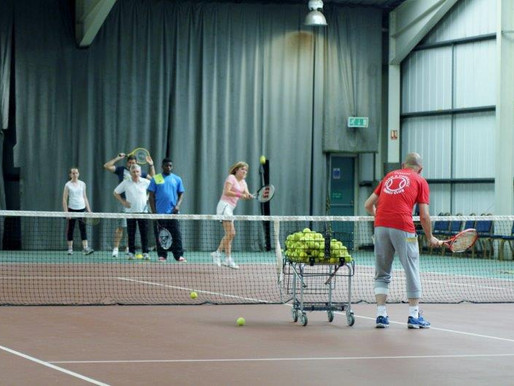 Adult group tennis coaching course