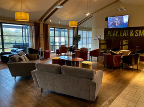 The Balcony cafe bar - relax with a coffee or something stronger!