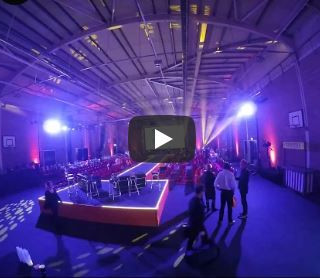 Timelapse video of events space setup