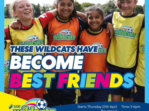 Join in our official SSE Wildcats girls football sessions!