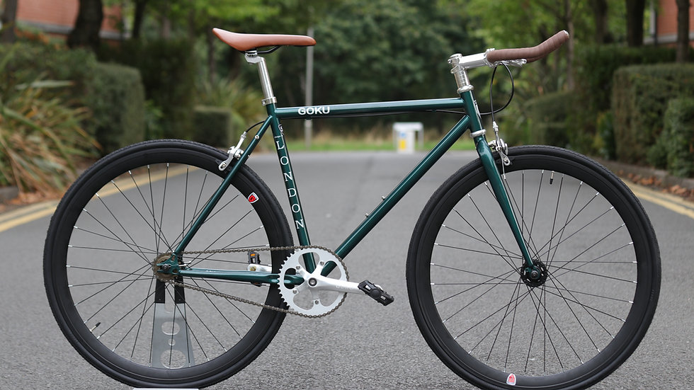Goku Racing Green Single Speed Fixed Gear
