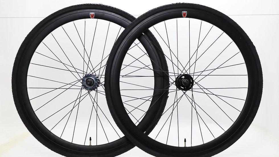 Goku Single Speed wheels Fixed Bike Wheel Set 700c 40mm Flip Flop