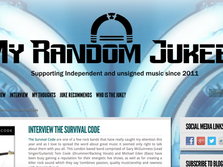 MY RANDOM JUKEBOX REVIEW/INTERVIEW OF NEW EP BROKEN STRINGS