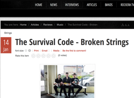 8/10 ain't bad for EP BROKEN STRINGS!! :D – Thanks to Rocker Magazine- each track review