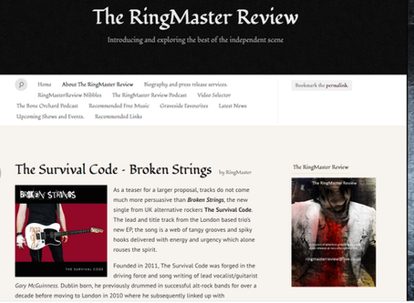 RINGMASTER REVIEWS SAYS SOME VERY NICE THINGS ABOUT  BROKEN STRINGS