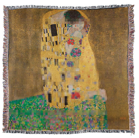 The Kiss, Klimt 28.2.2019 Jacquard weavi