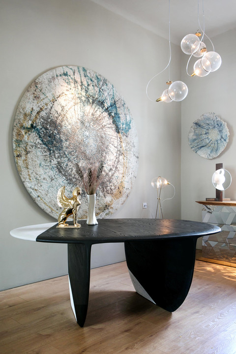 Black & White Pebble Desk by Gal Gaon Flat Moon by Ohad Tsfati New Sphinx by Gill Zohar Osobucco by Gal Gaon
