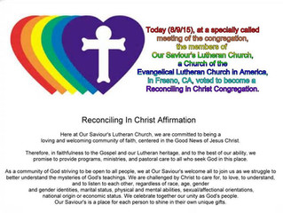We are officially an RIC Congregation!