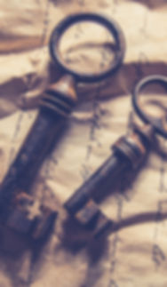 Antique keys on manuscript paper
