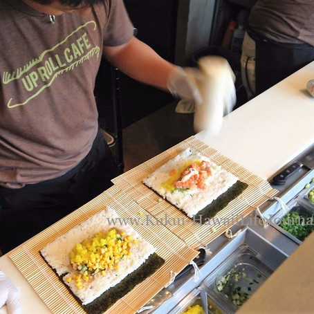 Up Roll Cafe流、キンワのハンドロール