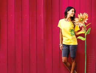 オリジナル染料のパイナップルで染めるクレイジーシャツ !