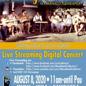 第13回ギャビーパヒヌイ・ワイマナロ・カニカピラ、ライブストリーミングコンサート - ハワイ時間2020年8月8日 11AM