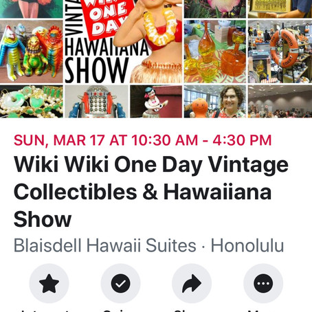 お宝目指してWiki Wiki one day Vintage Showへ行こう!