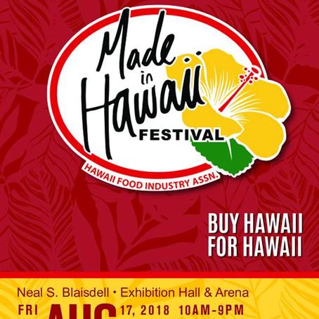 いよいよ、明日からメイド・イン・ハワイ・フェステイバル!
