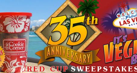創業35周年を迎えたハワイ生まれの『ザ・クッキーコーナー』で ラスベガス旅行が当たるキャンペーンを実施中!