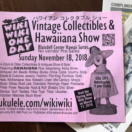 Wiki Wiki One Day Showは11月18日です