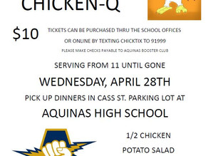 Wednesday, April 28 - Aquinas Chicken-Q