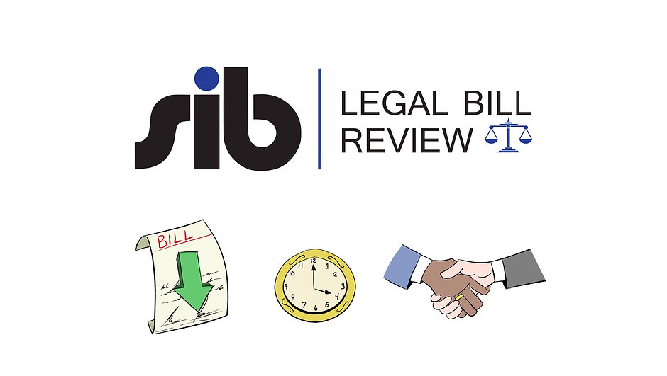 SIB Legal Bill Review helps you reduce legal expenses, save time, and improve attorney relationships.
