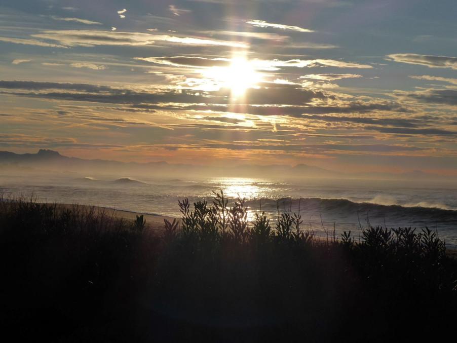 couche de soleil sur l atlantique