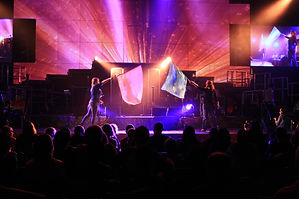 video projection production filming and projection mapping