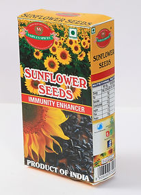 Sahya's sunflower seed is the fruit of the sunflower(Helianthus annuus). There are three types of commonly used sunflower seeds: linoleic, high oleic, and NuSun developed for sunflower oil. Each variety has its own unique levels of monounsaturated, saturated, and polyunsaturated fats. Sunflower seeds are more commonly eaten as a snack than as part of a meal. They can also be used as garnishes or ingredients in various recipes. The seeds may be sold as in-shell seeds or dehusled kernels