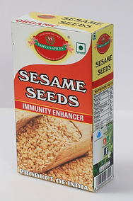 Sahya's Sesame seeds are tinyflat oval seeds with a nutty taste and a delicate, almost invisible crunch. They come in a host of different Calors depending upon the variety, including white, yellow, black and red. Sesame seed is one of the oldest oilseed crops known, domesticated well over 3000 years ago. Sesamum has many other species, most Deing wild and native to sub-Saharan Africa. Sesamum indicum, the cultivated type, originated in India Sesame has one of the highest oil contents of any seed. Sometimes Solan us secd coat removed (decorticated this variety is often presentan copafbaked goods in many countries
