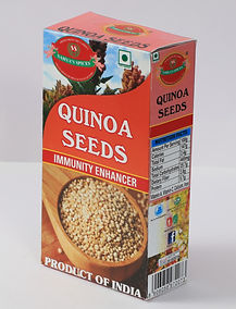 Sahya's Quinoa Seeds are like crop grown primarily for its edible seeds., Quinoa is not a real cereal, or grain, but more of a vegetable, as it is not a member of the grass family. quinoa is closely related to species such as, spinach, and tumbleweeds. Its leaves are also eaten as a leaf vegetable, much like amaranth. Quinoa greens are not widely available for purchase. Quinoa gives high quality protein and other nutrients. It has been called a 'superfood