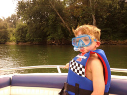 Ready to swim in the Kentucky River
