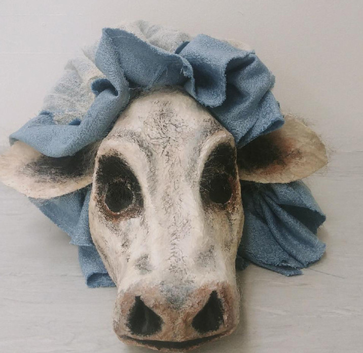 Cow Mask and Oversized Mob-Cap