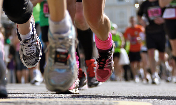 Healthy runners in a race demonstrate fitness