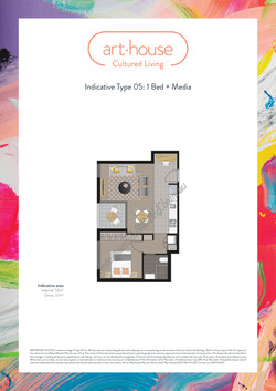 WMARKED Art House - Type 05 Floor Plan -1 bed+media-page-001