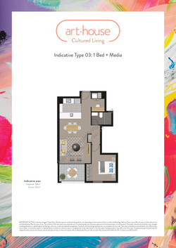 WMARKED Art House - Type 03 Floor Plan -1 bed+media-page-001