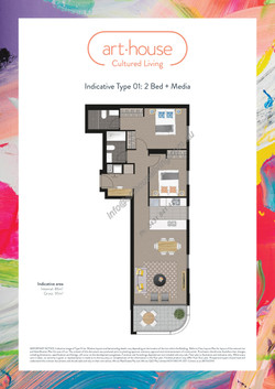WMARKED Art House - Type 01 Floor Plan -2 bed+media-page-001