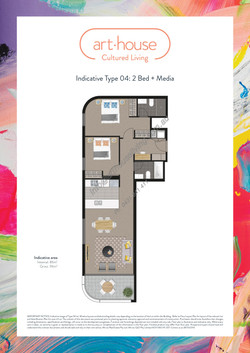 WMARKED Art House - Type 04 Floor Plan -2 bed+media-page-001