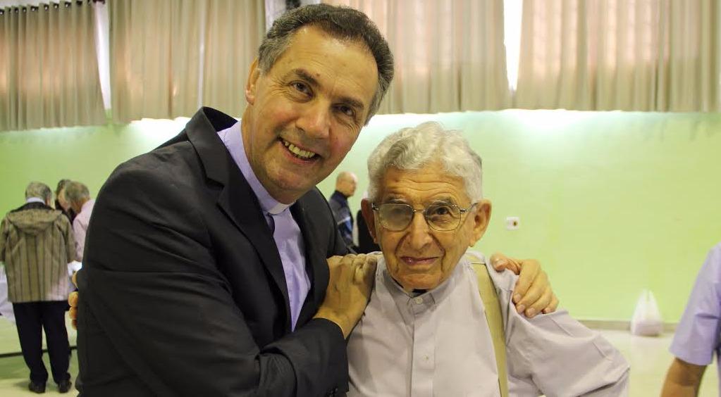 Pe. Carlo Senno com o  Reitor-Mor