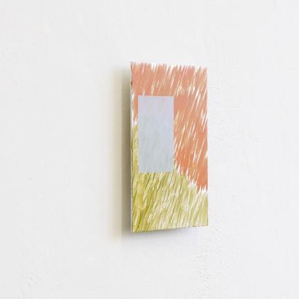 Orange Window, oil on aluminium, 15x11cm