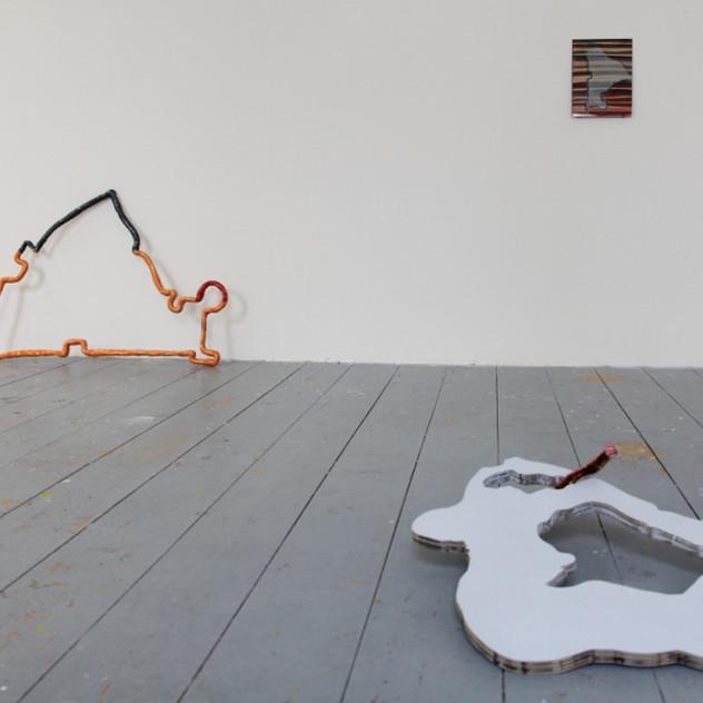 Installation view of Jahresausstellung