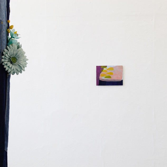 Installation view of Degree Show, sculpture by Jamie Hammill