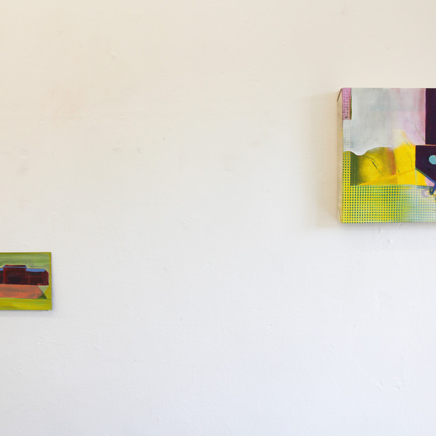 Installation view of Tinned Peaches