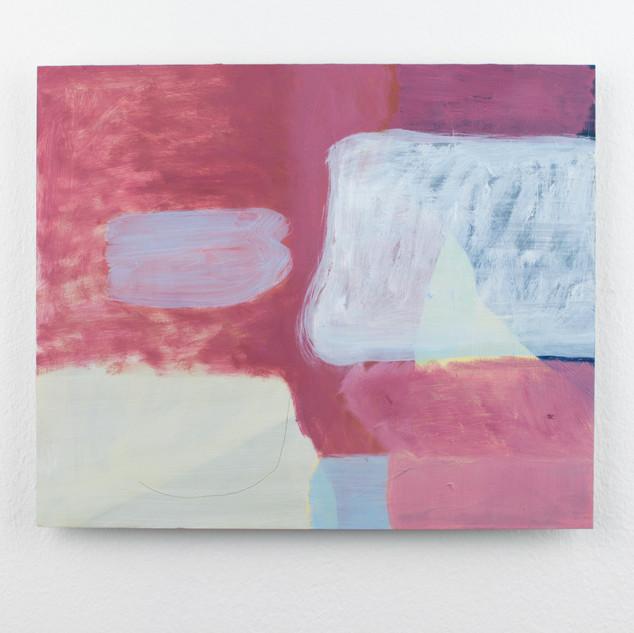 Dusty Pink, oil on aluminium, 20x24cm