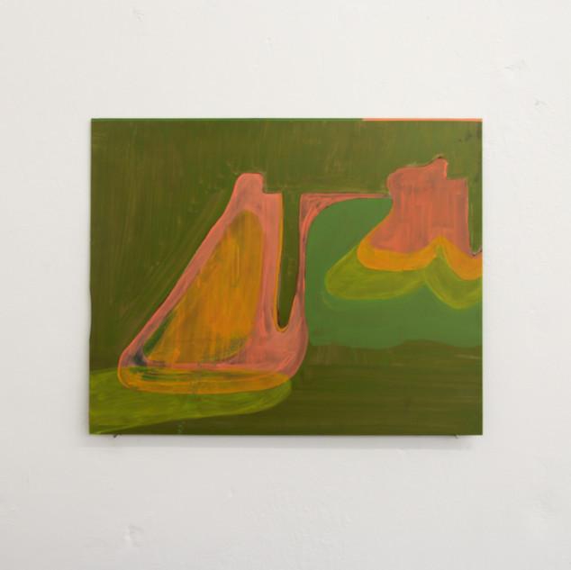 Untitled, oil on aluminium, approx 17x22cm
