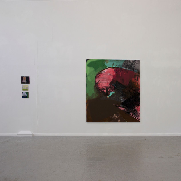 Installation view of Catamaran at Thames-side Studios Gallery
