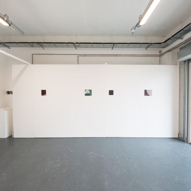 Installation view of the loving treatment