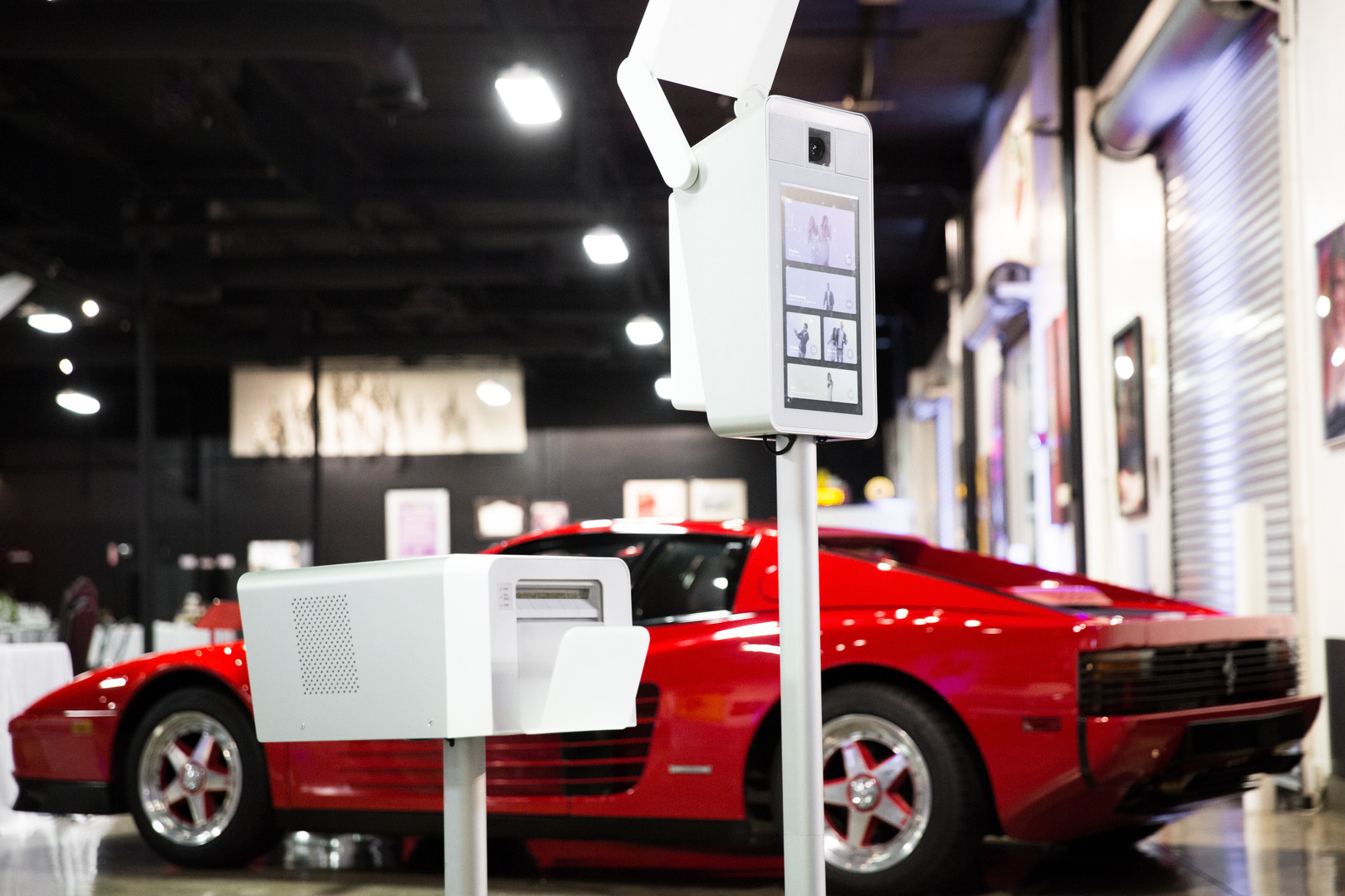 Our Queso Photo Booth looks right in place at an auto museum