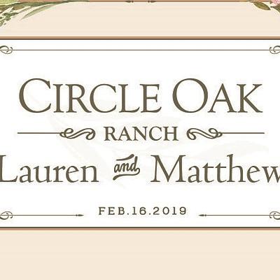 Circle Oak Ranch Wedding Design