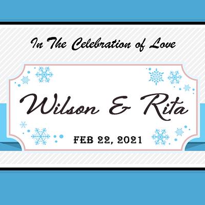 Winter Snowflake Wedding Design