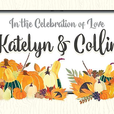 Fall Pumpkin Wedding Design