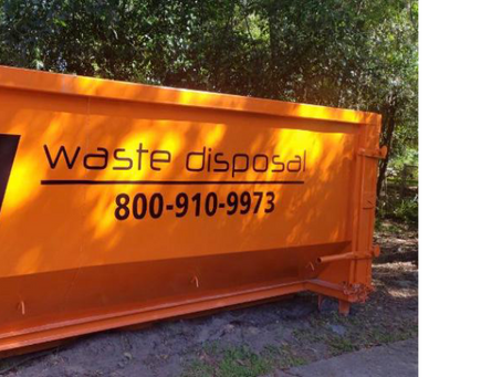 Can I use 4 yard dumpster after cleaning lawn?