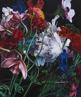 Serie Flores · Óleo sobre tela · 60 x 50 cm · 2015
